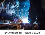 the movement of workers with... | Shutterstock . vector #400661125