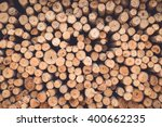 Stacked Of Wood Log  For...