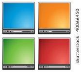 video player interface | Shutterstock .eps vector #40066450