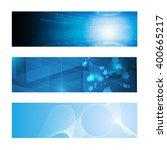 set of 3 banner technology... | Shutterstock .eps vector #400665217