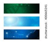 set of 3 banner technology... | Shutterstock .eps vector #400665241