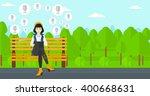 social media network. | Shutterstock .eps vector #400668631