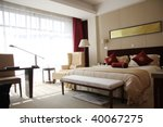Stock photo interior of hotel room or bedroom 40067275