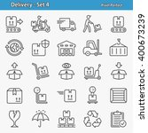 delivery icons. professional ... | Shutterstock .eps vector #400673239