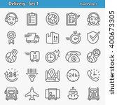 delivery icons. professional ... | Shutterstock .eps vector #400673305