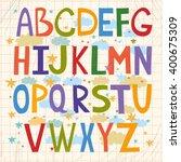 cute vector alphabet for...   Shutterstock .eps vector #400675309