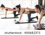 group women stretching training ... | Shutterstock . vector #400682371