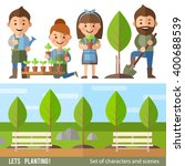 vector set of characters and... | Shutterstock .eps vector #400688539