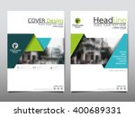 green annual report brochure... | Shutterstock .eps vector #400689331