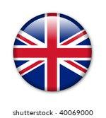 united kingdom   glossy button...   Shutterstock . vector #40069000