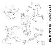 hand drawn illustration of... | Shutterstock .eps vector #400690855