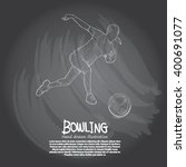illustration of bowling.... | Shutterstock .eps vector #400691077