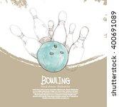 illustration of bowling... | Shutterstock .eps vector #400691089