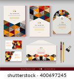 corporate identity.vector... | Shutterstock .eps vector #400697245