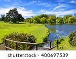 Pond Near Leeds Castle In Kent...