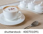 Coffee Cappuccino In White Cup