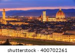 night at florence  italy | Shutterstock . vector #400702261