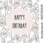 happy birthday vector card in... | Shutterstock .eps vector #400705429