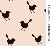 seamless pattern with bird... | Shutterstock .eps vector #400705435