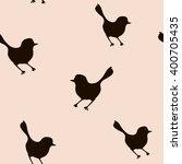 seamless pattern with bird... | Shutterstock .eps vector #400705435
