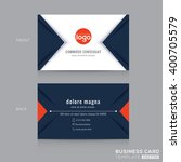 Abstract modern navy blue triangle Business card name card Design Template | Shutterstock vector #400705579