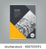 minimal simple yellow color...   Shutterstock .eps vector #400705591