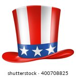 Uncle Sam's Hat. Vector...