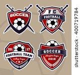 set of soccer football badge... | Shutterstock .eps vector #400719784