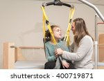 disabled person being lifted... | Shutterstock . vector #400719871
