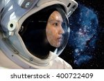 astronaut woman on space... | Shutterstock . vector #400722409