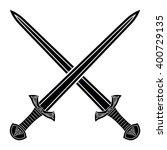 two crossed gladius sword... | Shutterstock .eps vector #400729135