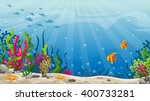 illustration of underwater... | Shutterstock .eps vector #400733281