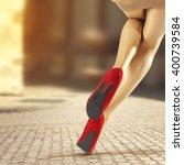 woman legs  | Shutterstock . vector #400739584