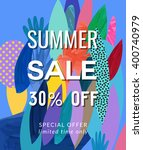 sale poster. vector illustration   Shutterstock .eps vector #400740979