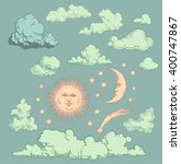 heavenly bodies. design set.... | Shutterstock .eps vector #400747867