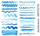 watercolor blue  pattern line... | Shutterstock .eps vector #400752751