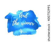 and the winner is logo  card ... | Shutterstock .eps vector #400752991