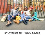 Group Of Happy Multiracial Bes...