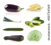 collection vegetables isolated...