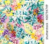 beautiful floral seamless...   Shutterstock . vector #400754749