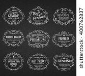 calligraphic design elements ....   Shutterstock .eps vector #400762837