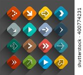 arrows set   vector app icons   ... | Shutterstock .eps vector #400774231