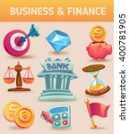 color business and finance set... | Shutterstock .eps vector #400781905