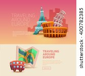 traveling around europe.... | Shutterstock .eps vector #400782385