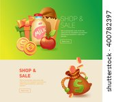 shopping and sale. buy gifts.... | Shutterstock .eps vector #400782397