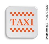 taxi icon. internet button on... | Shutterstock . vector #400784839