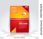 2016 annual report  business a4 ... | Shutterstock .eps vector #400786369