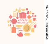vector collection of kitchen...   Shutterstock .eps vector #400788751