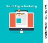 search engine marketing vector | Shutterstock .eps vector #400789495