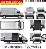 delivery van.  doors can be... | Shutterstock .eps vector #400790671